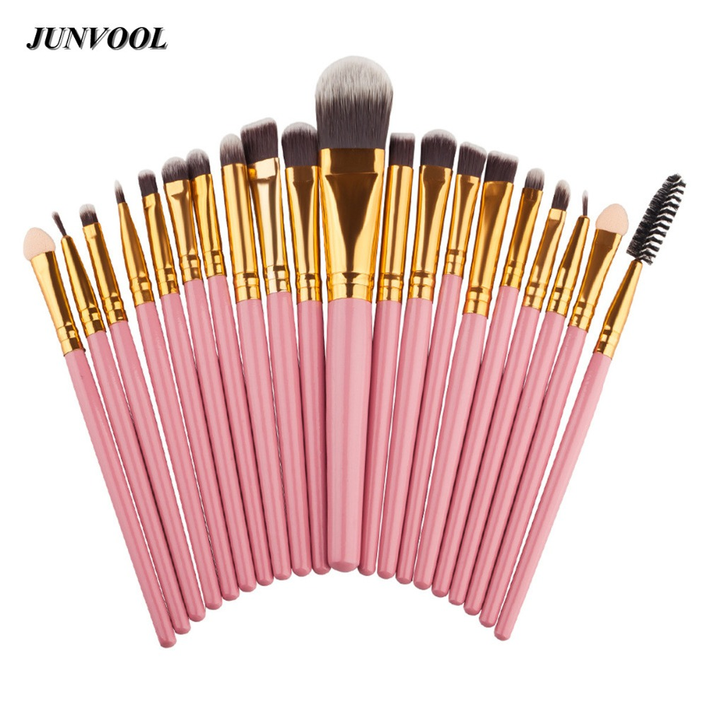 Pink 20Pcs Make Up Brushes Set Professional Powder Foundation Eyeshadow Eyeliner Lip Cosmetic Makeup Brush Maquiagem Beauty Tool high quality 18pcs set cosmetic makeup brush foundation powder eyeliner professional brushes tool with roll up leather case