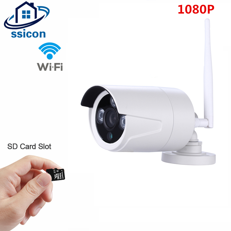 SSICON 2.0MP 3.6mm Lens Waterproof Wifi Camera Outdoor Bullet P2P Onvif Security Wireless Camera 1080P Support 64G SD CardSSICON 2.0MP 3.6mm Lens Waterproof Wifi Camera Outdoor Bullet P2P Onvif Security Wireless Camera 1080P Support 64G SD Card