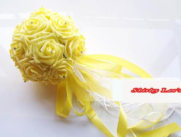 Uus !!! 8 X armas vaht roosid w / diamante pruutneitsi lille kimp - Pühad ja peod - Foto 1