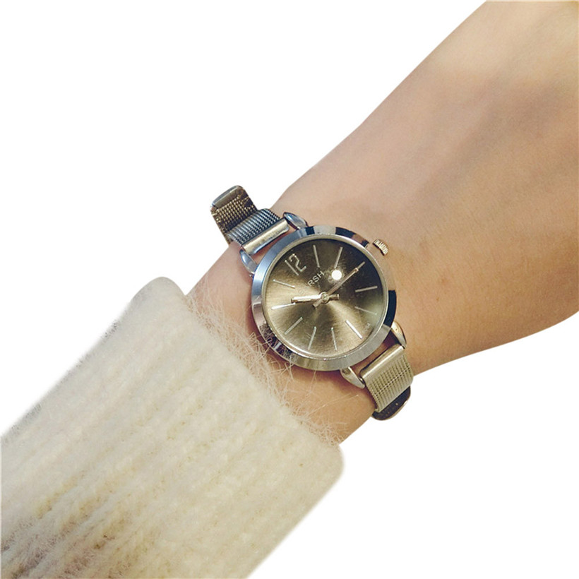Watch Gold Watches Women Dress Clock Roman Numerals Quartz Stainless Steel Band High Quality Relogio Feminino #210717 new famous brand fashion casual women watches roman numerals quartz watch women stainless steel dress watches relogio feminino