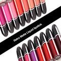 12 Pcs Mixed Color Retro Matte Liquid Lipstick Lipgloss Brand New Women Makeup Velvet Lip gloss Freeshipping & Wholesales 2016