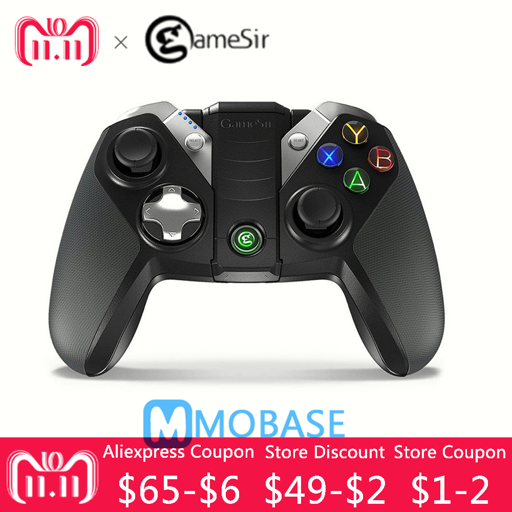 GameSir G4s Bluetooth Gamepad עבור אנדרואיד טלוויזיה תיבת Smartphone Tablet 2.4 ghz Wireless Controller עבור מחשב VR משחקים