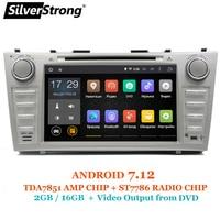 SilverStrong 1024*600 2Din Android7.12 2 ГБ Оперативная память автомобильный DVD для TOYOTA CAMRY AURION v40 2007 11 Авто радио с google play