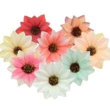 20 pçs 6cm gerbera artificial flor decoração de festa em casa scrapbooking acessórios grinalda diy cabeça barato artesanato falso flores
