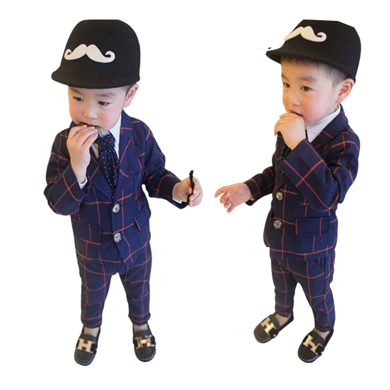 Handsome Boys Suits 2018 New Formal Boys Gentleman Clothes for Wedding and Birthday Party 2 3 4 5 6 Year Children Clothing Set 2017spring hot sale handsome boys gentleman suit children s formal clothing set kids wedding party clothes vest shirt pant 3pcs