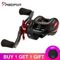 Piscifun Phantom X Baitcasting Reel Multicolor 3 Gear Ratios Low Profile Fishing Reel Carbon Reel Handle 8.1kg Drag Ultra Smooth
