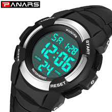 PANARS LED Digital Watch Men Luxury Brand Led Waterproof Outdoor Sport Watches For Men Clock Stopwatch Electronic Wrist Watches