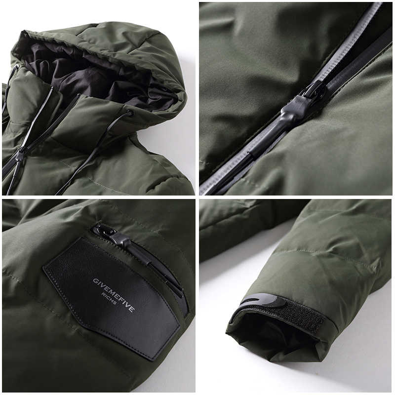 Пионерский лагерь, мужской пуховик, брендовая одежда, зимнее плотное теплое пуховое пальто с капюшоном, мужской классический стиль, AYR705308