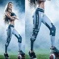 Женщины леггинсы Капитан Америка 3D Печати спортивные леггинсы Эластичный тренировки брюки Моды женские брюки