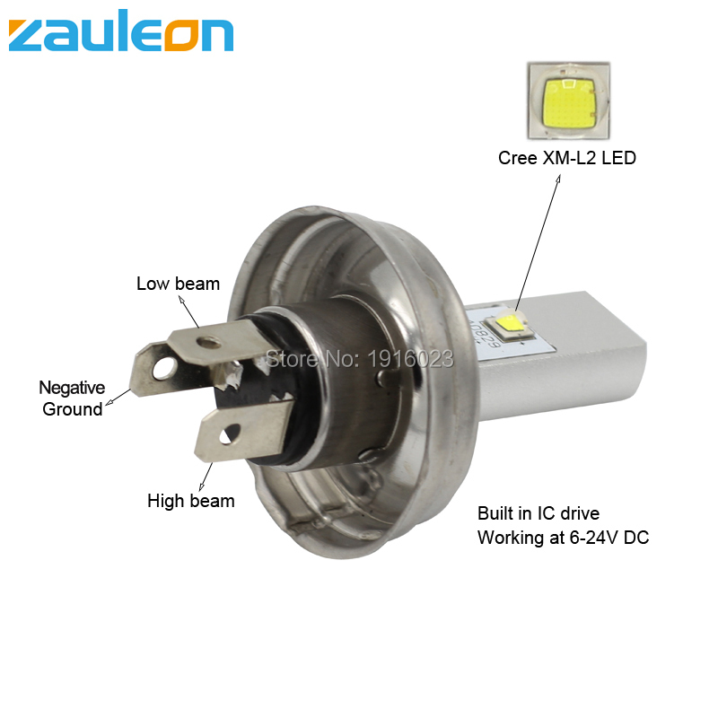 Zauleon 1pcs Motorcycle P45T LED Bulbs Headlight Car Lamp for ...