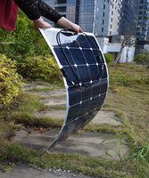 100W Lightweight Flexible Solar Panels For RV Boat Golf Cart Marine Yachts Home Use With Junction