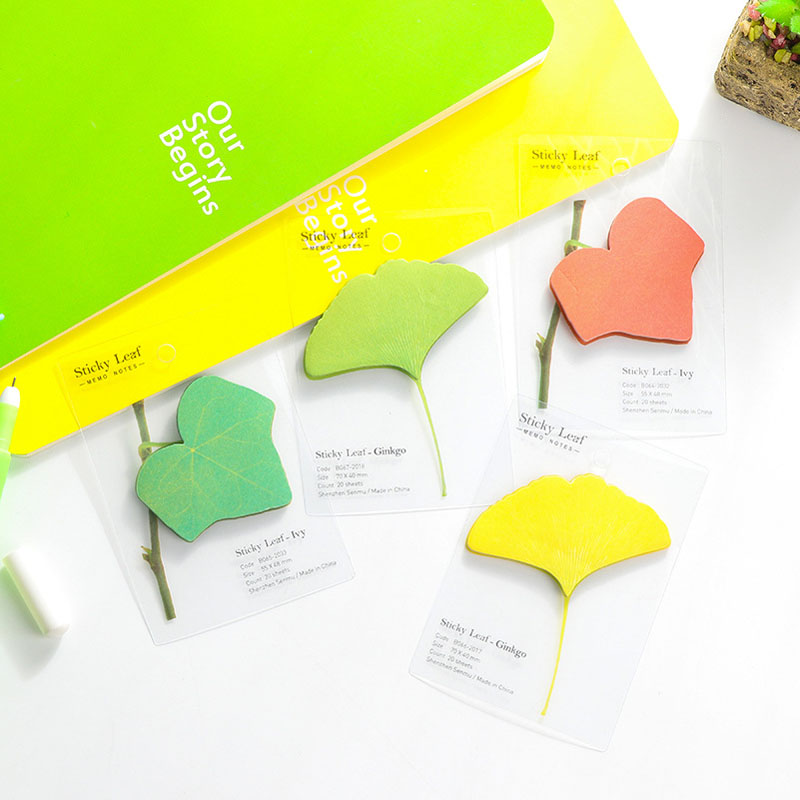 Creative ivy tree leaf pad paper sticky notes post it notepad memo stationery papeleria school office supplies kids gifts BLT24