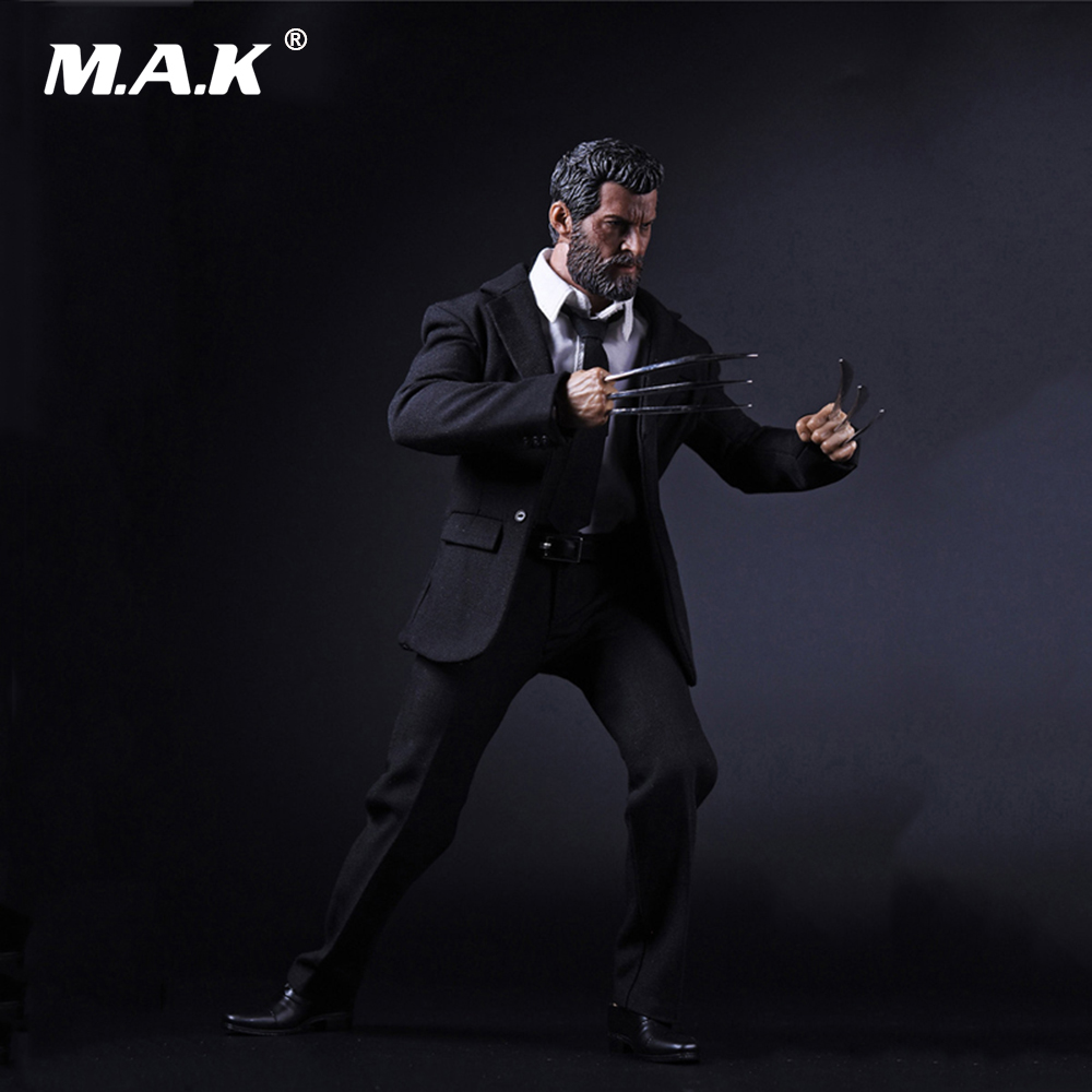 1/6 Scale Accessories Full Set X-men Wolverine Logan Action Figure Black Suit &Head & Body with Wolf Claws Figures