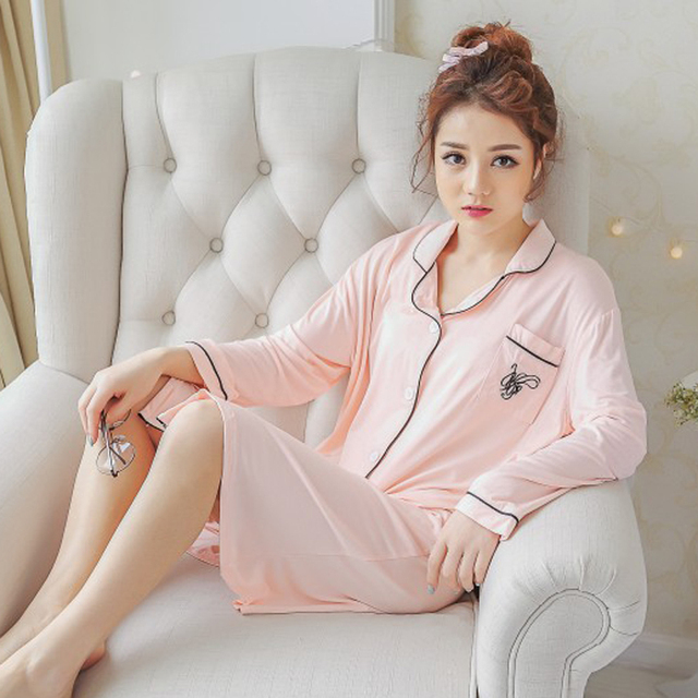 Night Spring Autumn Winter woman Sleeve Long Fund Cardigan Pink Colour No Open Button Sweet Home Furnishing Serve