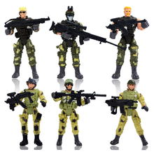 New Arrive 6 Styles Policemen Soldiers Military Doll Model Toys for Children Learning Playing Christmas Gift