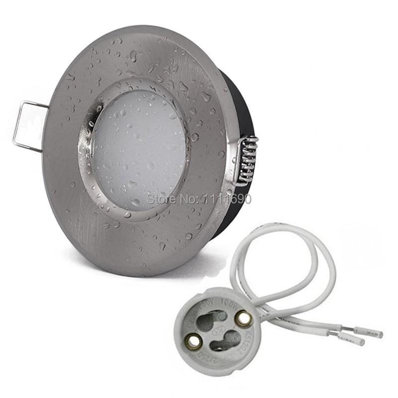 Downlight Bathroom GU10/MR16 Fitting Ceiling Spot Lights IP65 Recessed Downlights For  Bathroom Shower Down Light Fixtures