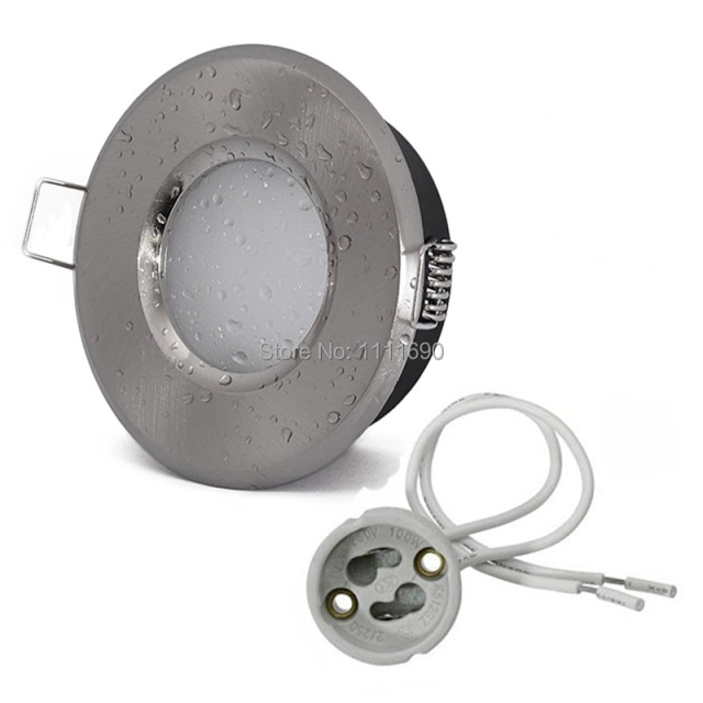 Bathroom Lights Gu10 aliexpress : buy downlight bathroom gu10/mr16 fitting ceiling