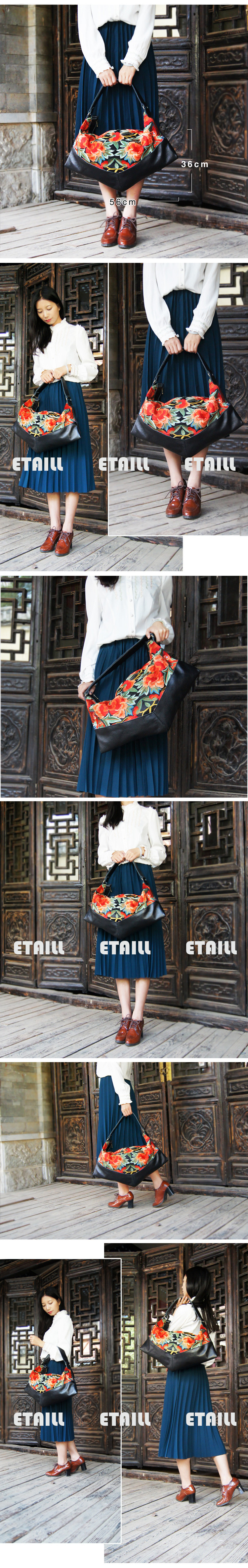 embroidered leather handbags