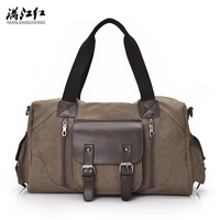 2017 New Men's Vintage Canvas Travel Bag Male Handbag Leisure Bag Bucket Bag Man's Big Bag 1375