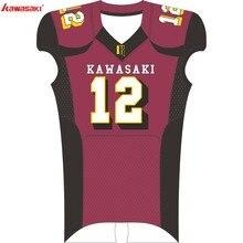 Кавасаки на заказ футбольные майки дышащие американские футбольные брюки Одежда для спортивной команды для мужчин женщин детская рубашка Футбол 006