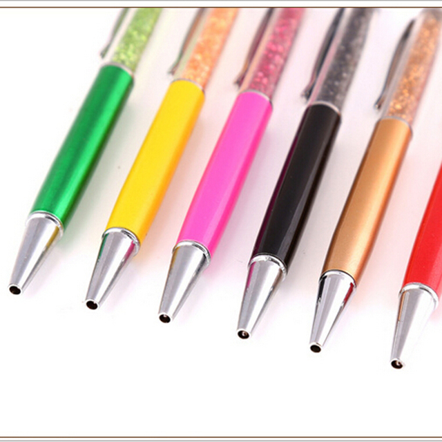 High Quality Crystal Decoration 1mm Ball Point Pen Office School