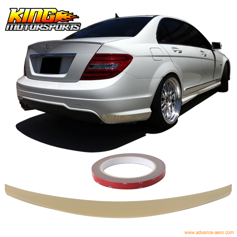 97e55f8d51b2 For 08 09 10 11 12 13 Mercedes W204 C Class IKON Style Trunk Spoiler  Unpainted - ABS USA Domestic Free Shipping