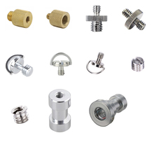 """50pcs/lot 1/4"""" to 3/8"""" Male to Female Thread Screw Mount Adapter Tripod Plate Screw mount for Camera Flash Tripod Light Stand"""