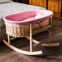 Baby Cradle Wave Children Baby Basket Of The Cane Makes Up Solid Wood Cradle Hammock Bed