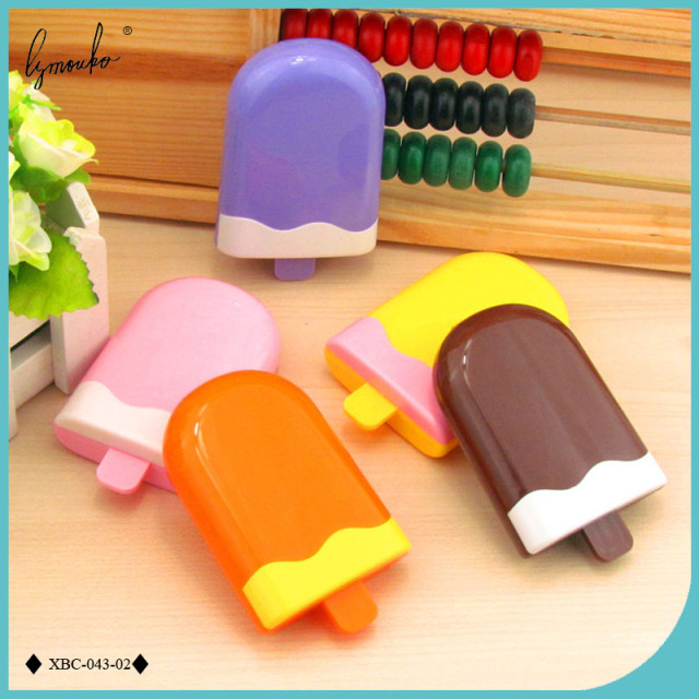 Lymouko Новый Дизайн многоцветный Симпатичные Мороженое Портативный с зеркалом контактные линзы чехол для Комплект держатель контакт Оптические стёкла коробка