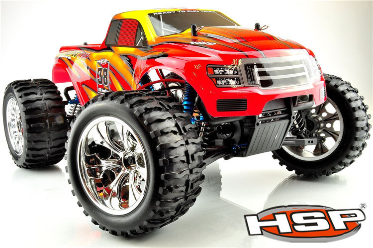 HSP 94111 OR 94111 PRO Off Road Monster Truck 4wd 1/10 Electric Powered Brushless / Brush Electric Car P2 02023 clutch bell double gears 19t 24t for rc hsp 1 10th 4wd on road off road car truck silver