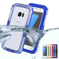 For Samsung Galaxy S7 S7 edge Waterproof Case Diving Underwater Watertight Cover Universal Hard PC+TPU Full Clear For S7 S7 Edge