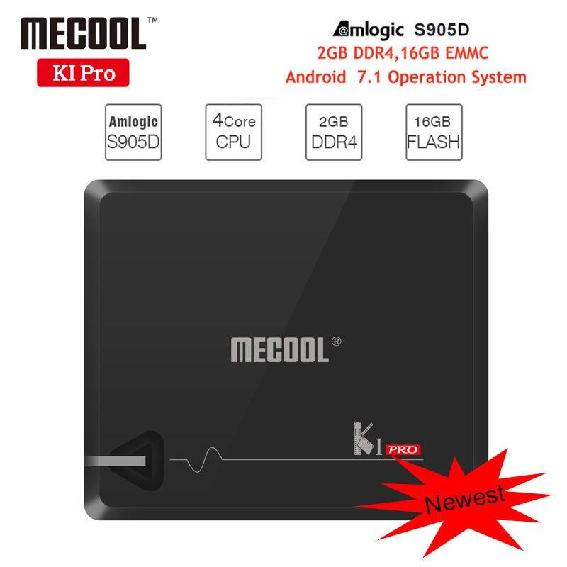 MECOOL KI Pro 10pcs Android Tv Box Amlogic S905D 2G/16G Android 7.1 Set Top Box DVB-S2/T2 Wifi BT4.1 1000M UHD 4K Media Player mecool kii pro tv box dvb t2 dvb t2 s2 amlogic s905 quad core 2gb 16gb android 5 1 tv box bluetooth 2 4g 5g wifi set top box