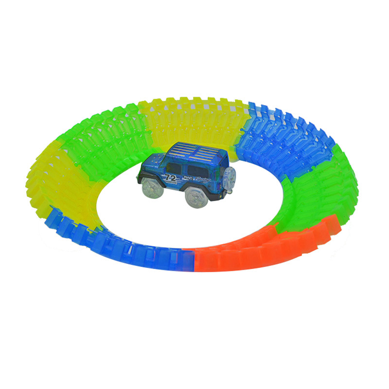 Shineheng-Miraculous-Track-Bend-Flex-Glow-in-the-Dark-Assembly-Toy-56112pcs-Glow-Race-Stunt-Track-Set-1pc-LED-Car-4