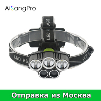 AiSangPro Head Lamp Flashlight With 18650 Rechargeable Battery Fishing Headlamp Xml T6 Hunting Headlight Led Flashlights