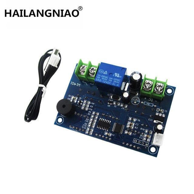 10ピース/ロットdc12vサーモスタットインテリジェントデジタルサーモスタット温度コントローラー付きntcセンサーw1401 ledディスプレイ