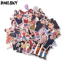 DMLSKY 55pcs/set American Dad Album Sticker Waterproof Pvc Scrapbooking for Phone Luggage Laptop Guitar DIY Decoration M3146