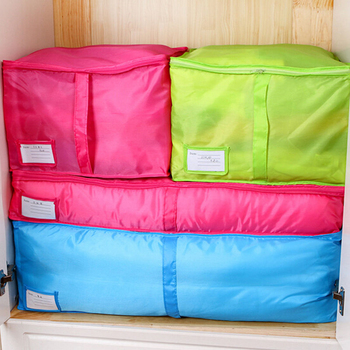 Travel Luggage Packing Cube Organizer Pouch 2Colors Durable Environment Convenience Solid Color Clothes Storage Bags
