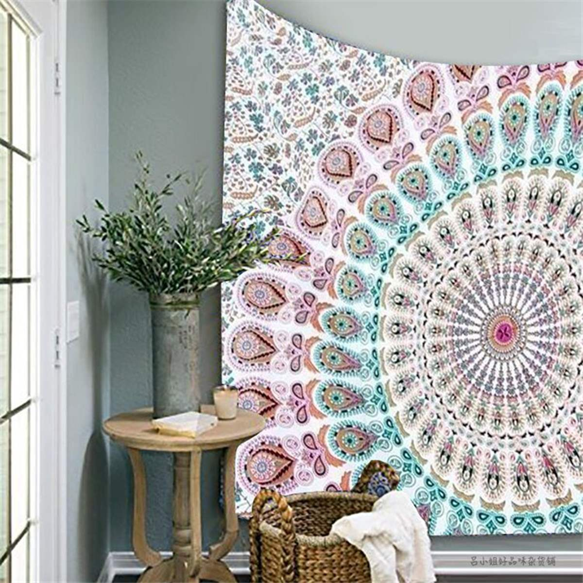 How To Hang A Tapestry On The Wall popular mandala textil-buy cheap mandala textil lots from china