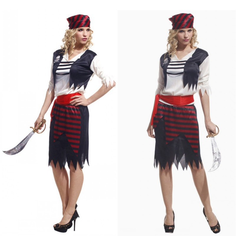 Fantasia Disfraces Pirates of the Caribbean Cosplay Halloween Jack Sparrow Costumes for Woman Purim Masquerade stage show dress