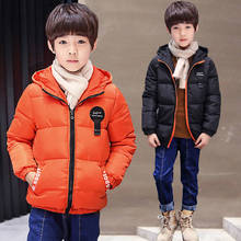 Boys cotton padded 2019 winter new children's clothing children's jackets in the big children's cotton coat winter clothes