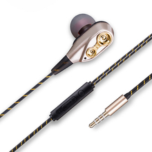 Dual Driver In-Ear Earphone Super Bass Sport HIFI Wired Headset With Micrpphone for iPhone xiaomi Huawei Samsung kz ates ate earphone with micphone copper driver hifi sport in ear earphone for running sports for xiaomi for iphone 8 plus