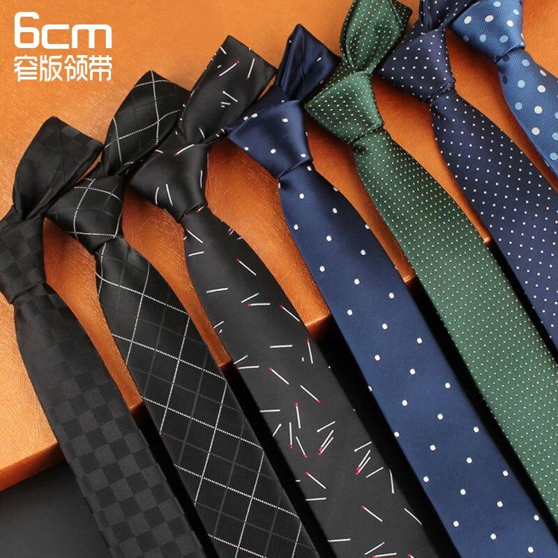Mode Männer Zubehör Dünne Krawatte 6 Cm Mens Krawatte Gestreiften Hemd Geschenk Für Männer Koreanischen Stil Krawatte Unten Herren-krawatten & Taschentücher