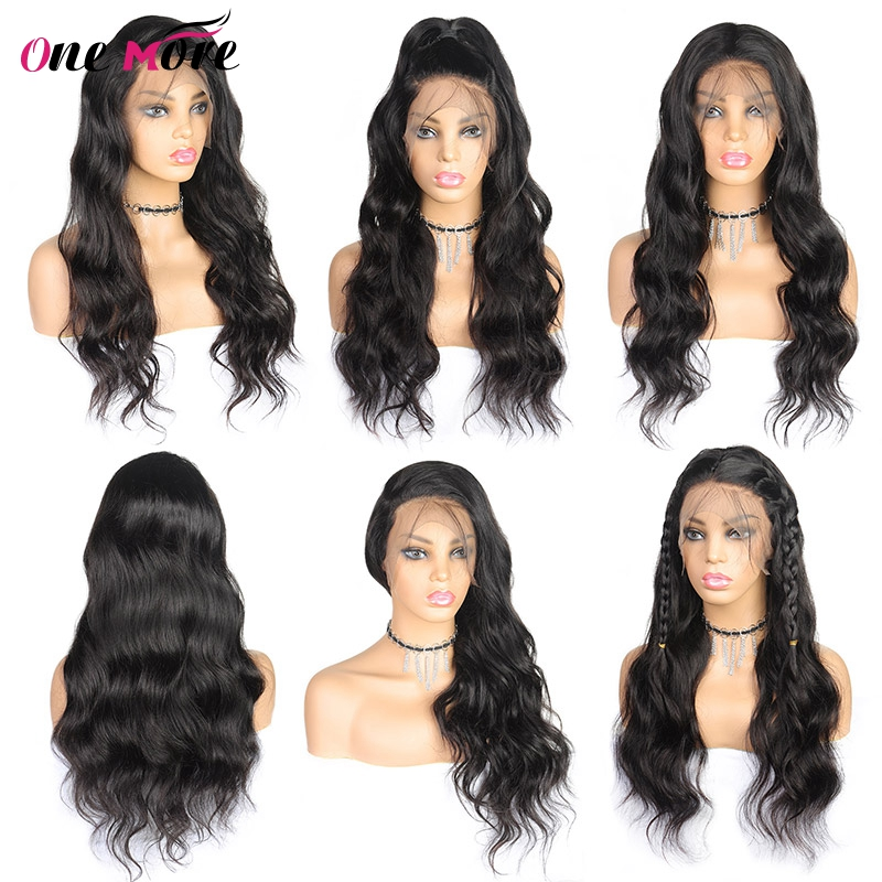 One More Lace Front Wig With Baby Hair Malaysia Human Hair Wig Body Wave Hair Extension For Black Women