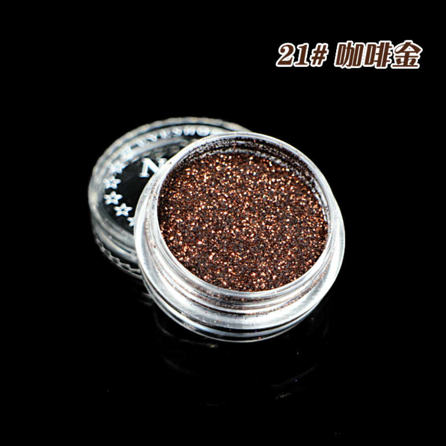 1 Box Diamond Black 23 Color Glitter Eyeshadow Powder Pigment Mineral Spangle Smooth Makeup Cosmetic Set Waterproof Long-lasting