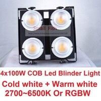 2017 Sales 400W Led Blinder Light WW+CW Theater Lighting COB LED Flood Lights 4 eye 100W Led Matrix Strobe Disco Audience Lamps