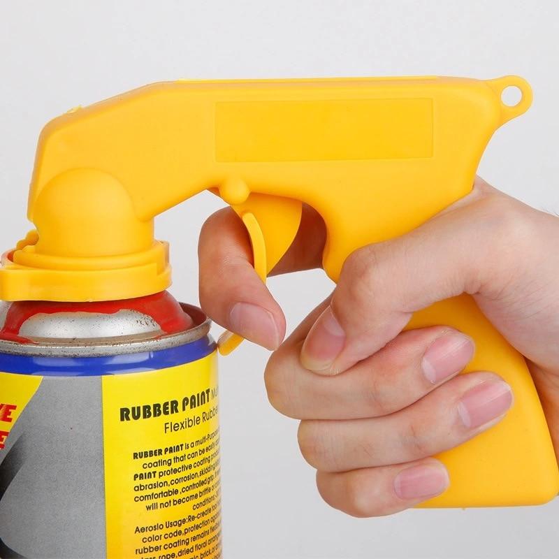Spray Adaptor Aerosol Spray Gun Handle With Full Grip Trigger Locking Collar Car Maintenance Paint Care Spray Gun