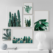 Green Tropical Plants Leaf Cactus Wall Art Canvas Painting Nordic Posters And Prints Wall Pictures For Living Room Home Decor цена 2017