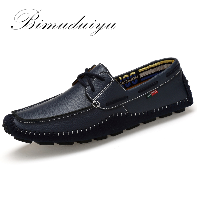 BIMUDUIYU Big Size High Quality Genuine Leather Men Shoes Soft Moccasins Fashion Brand Men Flats Comfy Casual Driving Boat38-47 ключ гаечный комбинированный 25х25 santool 031604 025 025 25 мм