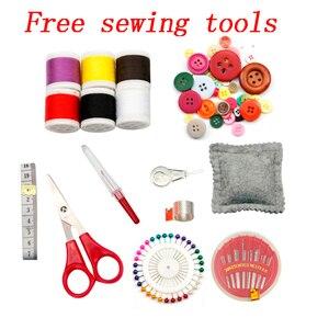 Image 2 - Buy One Get ücretsiz dikiş araçları dikiş saklama kutusu ahşap ve kumaş kaplı el sanatları dikiş kitleri organizatör noel hediyesi kutusu anne