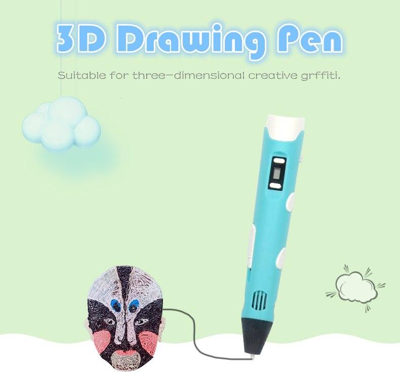 Beste verkauf drucker 3D Druck Stift 5V 3D Stift Bleistift 3 D Zeichnung Stift Stift PLA Filament Für Kid kind Bildung